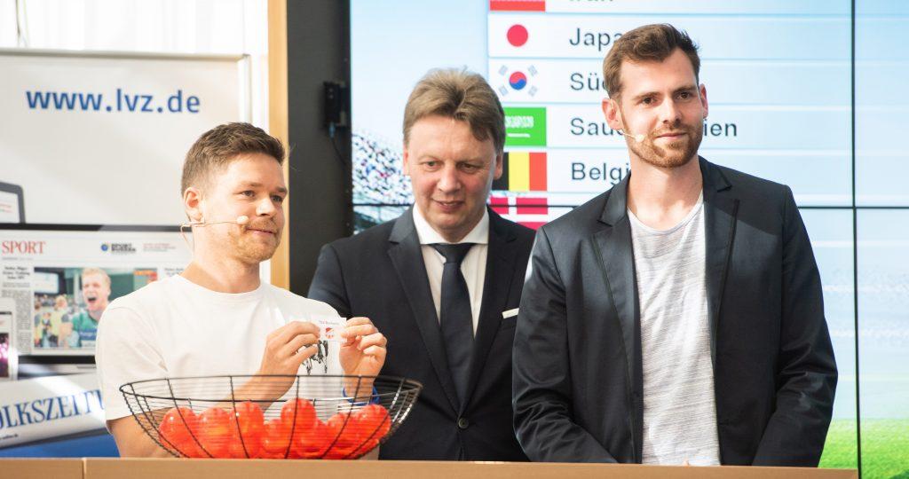 Auslosung der Mannschaften für die SPORTBUZZER Mini-WM mit Dominik Kaiser