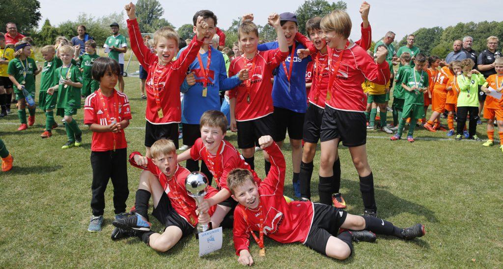 Lipsiade der F-Junioren im Fußball am 16. Juni 2018. 1. Platz für die F-Judgend des Roten Stern Leipzig.