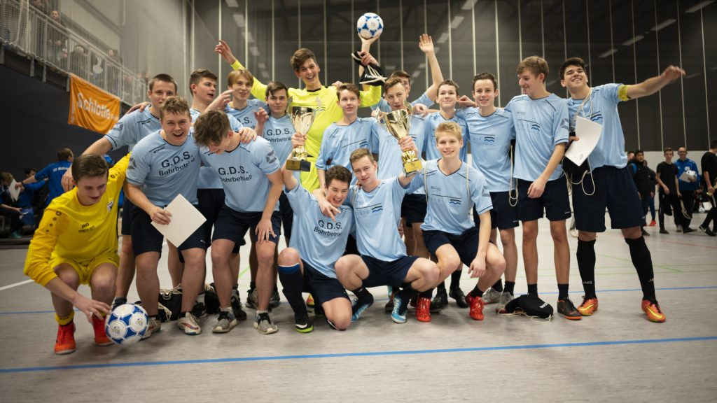 Die A- und B-Junioren spielten am 13. Januar in Abtnaundorf im Rahmen des 6. LVZ-SPORTBUZZER-Cups um die Hallenmeistertitel des FVSL. (Foto: Alexander Prautzsch)