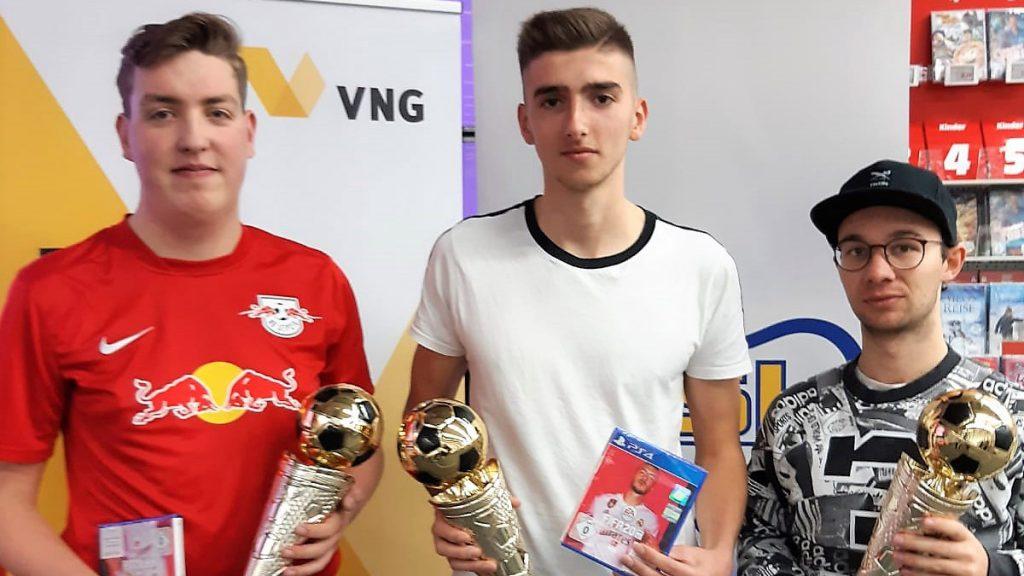 Holten sich die ersten drei Plätze: Moritz Mäde, Max Göllnitz und Lucas Bauer.